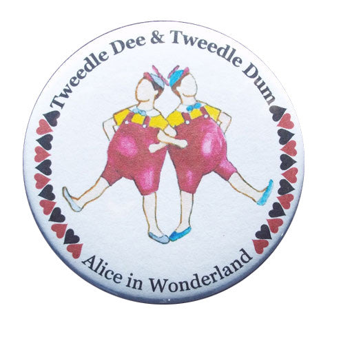 Tweedle Dee & Tweedle Dum Button / Magnet - Ballet Gift Shop