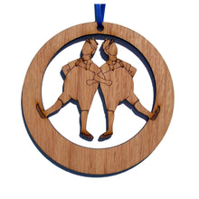 Load image into Gallery viewer, Tweedle Dee & Tweedle Dum Laser-Etched Ornament