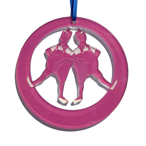 Tweedle Dee & Tweedle Dum Laser-Etched Ornament