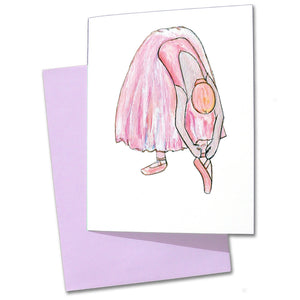 Tying Shoes Note Cards - Ballet Gift Shop