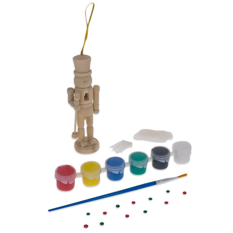 "5"" Paint Your Own Nutcracker Ornament Kit"