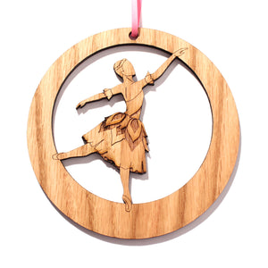 Violet Flower Dancer Laser-Etched Ornament - Ballet Gift Shop