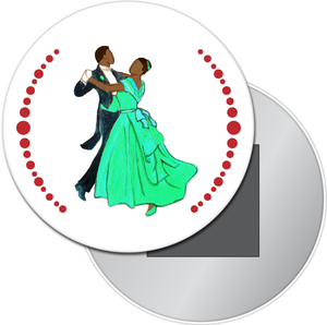 Waltzing Parents at the Party (African-American) Button/Magnet/Mirror
