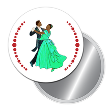 Load image into Gallery viewer, Waltzing Parents at the Party (African-American) Button/Magnet/Mirror
