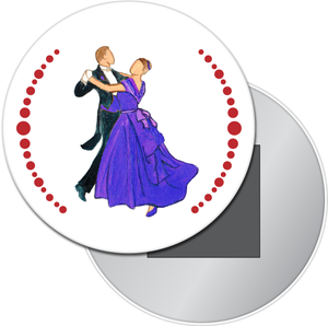 Waltzing Parents at the Party Button/Magnet/Mirror