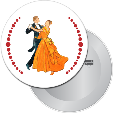 Waltzing Parents at the Party Button / Magnet