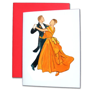 Waltzing Parents at the Party Note Cards