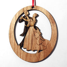 Load image into Gallery viewer, Waltzing Parents at the Party Laser-Etched Ornament