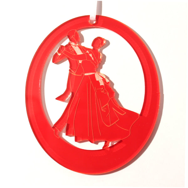 Waltzing Parents at the Party Laser-Etched Ornament