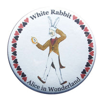 Load image into Gallery viewer, White Rabbit Button/Magnet/Mirror - Ballet Gift Shop