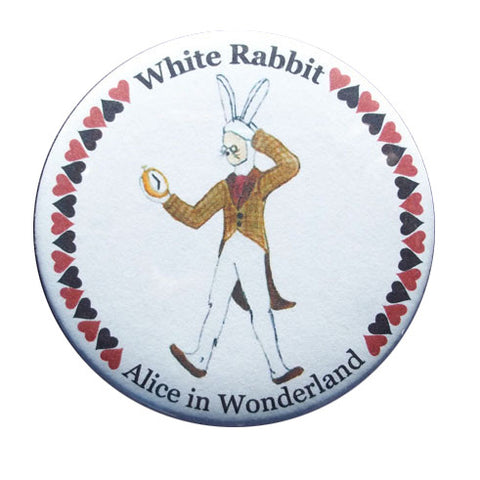 White Rabbit Button / Magnet