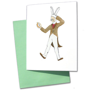 White Rabbit Note Cards - Ballet Gift Shop