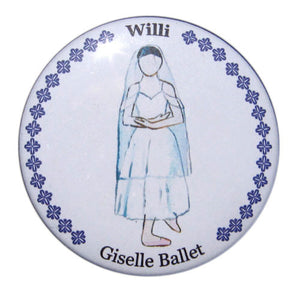 Willi Button/Magnet/Mirror - Ballet Gift Shop