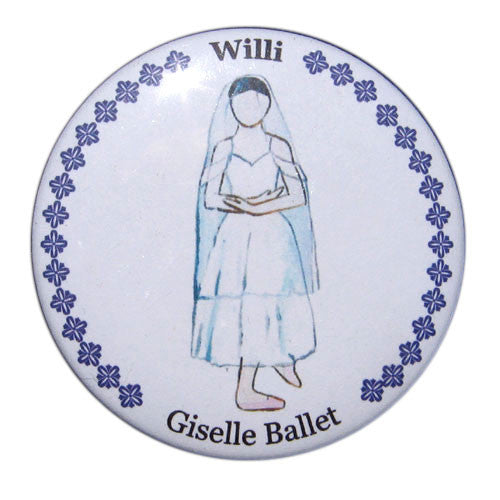 Willi Button / Magnet - Ballet Gift Shop