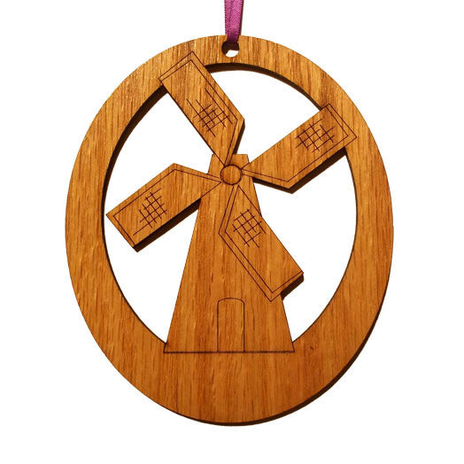 Windmill Laser-Etched Ornament - Ballet Gift Shop
