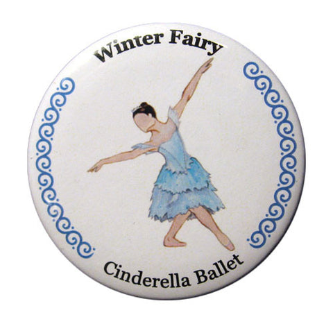 Winter Fairy Button / Magnet - Ballet Gift Shop
