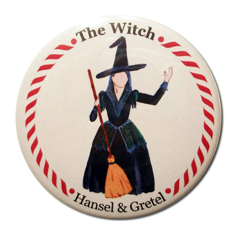 The Witch Button / Magnet - Ballet Gift Shop