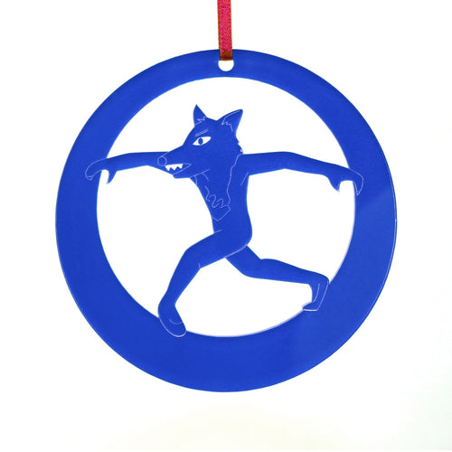 Wolf Laser-Etched Ornament - Ballet Gift Shop
