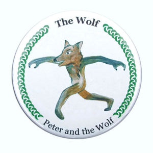 The Wolf (from Peter & The Wolf) Button/Magnet/Mirror - Ballet Gift Shop