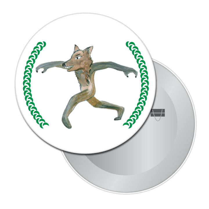 The Wolf (from Peter & The Wolf) Button/Magnet/Mirror