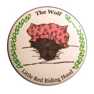 The Wolf Button/Magnet/Mirror - Ballet Gift Shop
