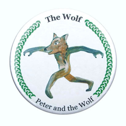 The Wolf (from Peter & The Wolf) Button / Magnet - Ballet Gift Shop