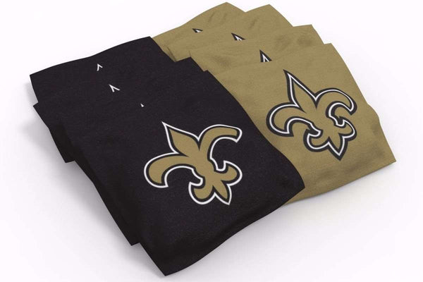 Image: New Orleans Saints 2x4 Cornhole Board Set - Ripped | Proline Tailgating