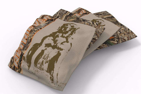 Image: Golden Retriever Hunting Dogs Bean Bags-4pk (B) | Proline Tailgating
