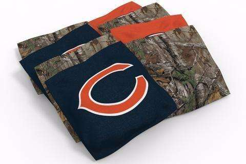 Image: Chicago Bears Cornhole Board Set - Millennial Stripe (w/Bluetooth Speakers) | Proline Tailgating