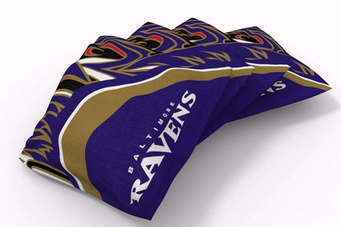 Image: Baltimore Ravens Millennial S Bend Bean Bags-4pk (A) | Proline Tailgating