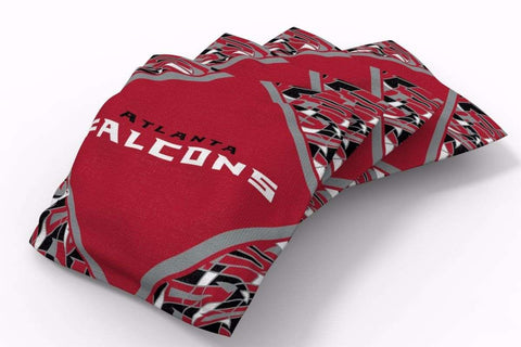 Image: Atlanta Falcons Millennial Diamond Bean Bags-4pk (B) | Proline Tailgating