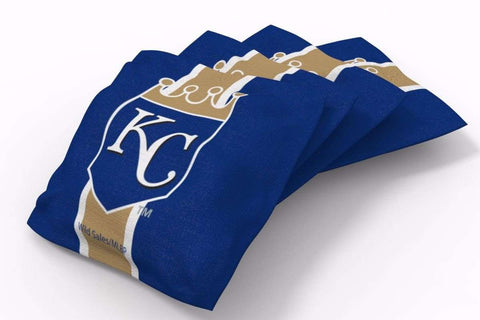 Image: Kansas City Royals Stripe Bean Bags-4pk (A) | Proline Tailgating