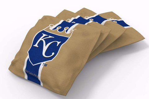 Image: Kansas City Royals Stripe Bean Bags-4pk (B) | Proline Tailgating