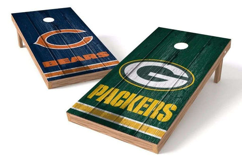 Image: Green Bay Packers/ Chicago Bears Rivals 2x4 Cornhole Board Set | Proline Tailgating