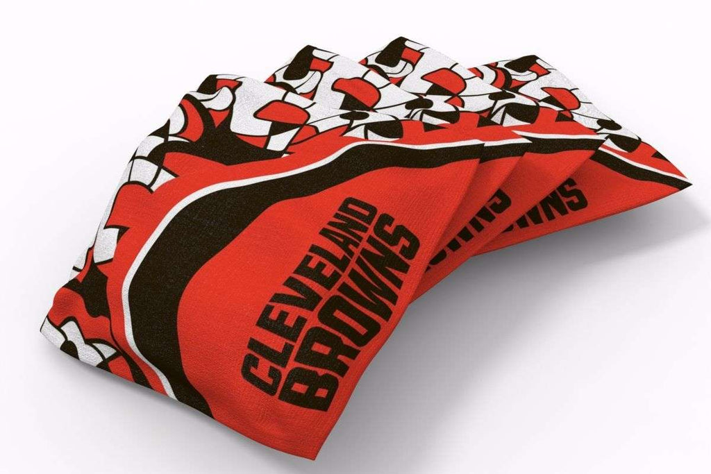 Image: Cleveland Browns Millennial S Bend Bean Bags-4pk (A) | Proline Tailgating