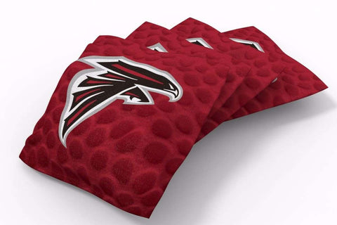 Image: Atlanta Falcons Pigskin Design Bean Bags-4pk (B) | Proline Tailgating