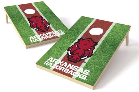 Image: Arkansas Razorbacks 2x3 Cornhole Board Set - Field | Proline Tailgating