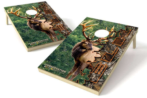 Image: Elk Conservation 2x3 Cornhole Board Set | Proline Tailgating