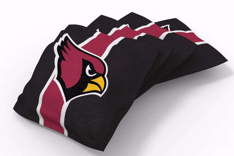 Image: Arizona Cardinals Stripe Bean Bags-4pk (A) | Proline Tailgating