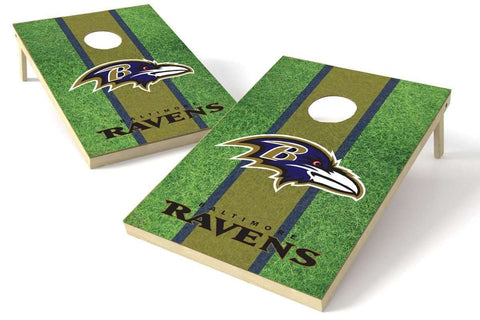 Image: Baltimore Ravens 2x3 Cornhole Board Set - Field | Proline Tailgating