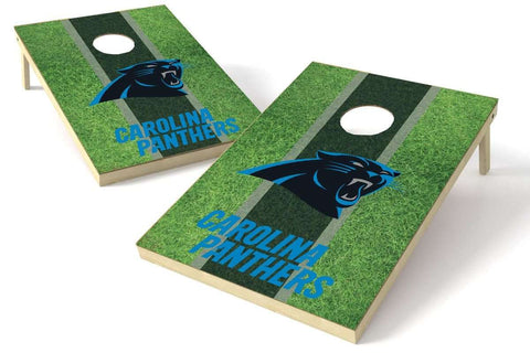 Image: Carolina Panthers 2x3 Cornhole Board Set - Field | Proline Tailgating