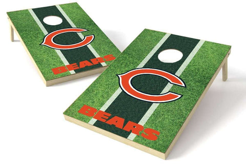 Image: Chicago Bears 2x3 Cornhole Board Set - Field | Proline Tailgating