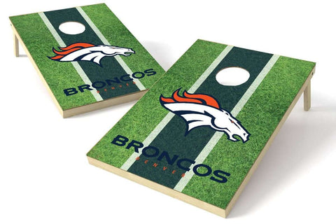 Image: Denver Broncos 2x3 Cornhole Board Set - Field | Proline Tailgating
