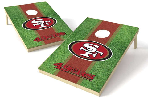 Image: San Francisco 49ers 2x3 Cornhole Board Set - Field | Proline Tailgating