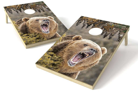 Image: Bear Conservation 2x3 Cornhole Board Set | Proline Tailgating