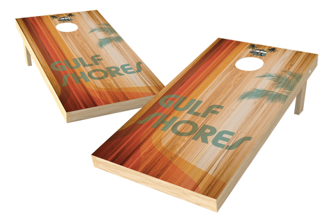Image: Gulf Shores Cornhole Board Set (w/Bluetooth Speakers) | Proline Tailgating