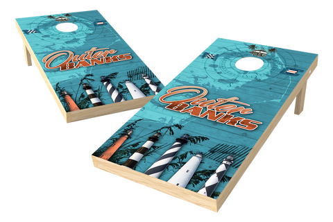 Image: Outer Banks Cornhole Board Set (w/Bluetooth Speakers) | Proline Tailgating