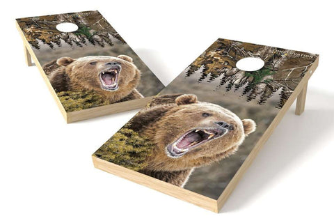 Image: Bear Conservation Cornhole Board Set (w/Bluetooth Speakers) | Proline Tailgating