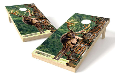 Image: Elk Conservation Cornhole Board Set (w/Bluetooth Speakers) | Proline Tailgating