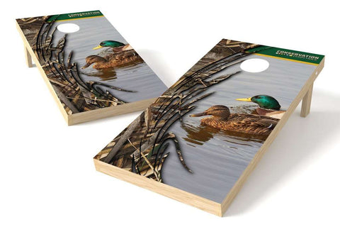 Image: Mallard Conservation Cornhole Board Set (w/Bluetooth Speakers) | Proline Tailgating